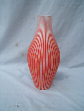 """Oil lamp shade chimney Candy stripe design 13.5"""" tall x 3.5"""" base fit x 2"""" top"""