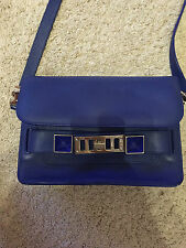 Proenza Schouler PS11 Leather CrossBody Bag in Blue