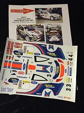 DECALS 1/24 FORD FOCUS WRC MC RAE RALLYE MONTE CARLO 2001 WRC RALLY MONTECARLO