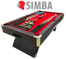8 Ft Pool Table Billiard Playing Table Game Billiards Red CAESAR Indoor Sports