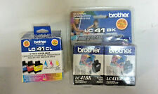 Brother LC41BK/LC41CL 2 Black Cyan,Magenta,Yellow  Ink Cartridge lot of 5!!