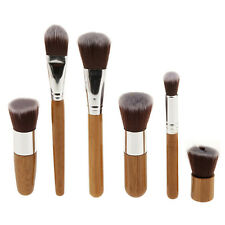 Professional Bamboo 6Pcs Makeup Brush Set Cosmetic Face Powder Brushes Kit