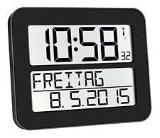 Time Line Funk Max Wanduhr übersichtliche Uhr für Senioren Seniorenuhr Schwarz