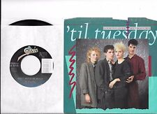 'TIL TUESDAY * 45 * Looking Over My Shoulder * 1985 #61 * Near MINT/ MINT w/ PS