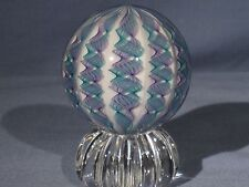 Marbles: Hand Made Art Glass James Alloway Dichroic 10 Cane #2453   2.46inch