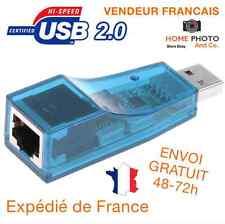Carte réseau USB 2.0 - RJ45 Lan adaptateur Internet Fast Ethernet Network