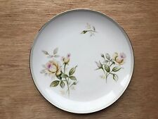 "KYOTO fine China, 8"" salad plate Shirley pattern (Brown Roses) 1456, Japan"