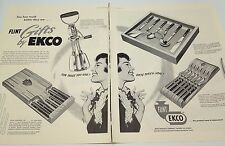 Vintage Ad Ekco Flint 1953 knives Gifts Chicago food mixer tools