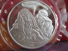CHRISTMAS NATIVITY 1 OZ..999 FINE SILVER  ROUND 2014