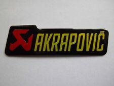 AKRAPOVIC EXHAUST HEAT PROOF ALUMINIUM METAL ALLOY DECAL BADGE STICKER