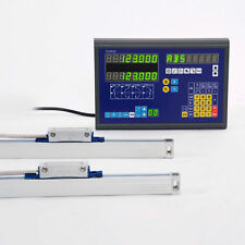 2 AXIS DRO DISPLAY DIGITAL READOUT WITH 2 LINEAR SCALES FOR MILL LATHE MACHINE