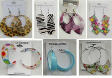 Wholesale Jewelry lots 6pairs Colorful  Drop and Hoop Fashion Earrings  #011