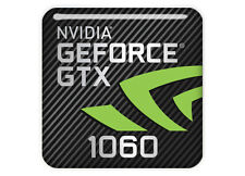 "nVidia GeForce GTX 1060 1""x1"" Chrome Domed Case Badge / Sticker Logo"