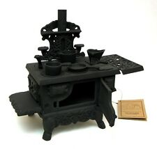 OLD MOUNTAIN BLACK MINI WOOD COOK STOVE Cast Iron Figurine Kitchen Decor Gift