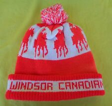 Vintage WINDOR CANADIAN Whiskey Canada Winter Pom Knit Hat Beanie