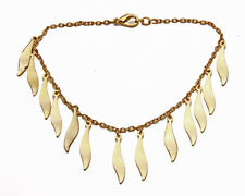 TWINKLING FINE GOLD METAL CHAIN AND LEAF LIKE CHARM BRACELET WITH CLASP (ZX40)