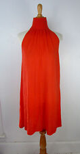 Anthropologie Karoo Mark Eisen Cashmere Tent Dress 3 Orange Gossamer Light EUC!