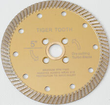 5 Inch  Diamond Turbo Saw Blade PREMIUM Granite, Concrete, Tile, Stone Fast Cut