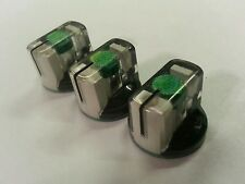 20 JAT Pointer Knobs With Set Screw, Fits Guitar Amps And Pedals. Green/White