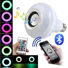 LED RGB Bulb E27 Bluetooth Smart Music Audio Speaker Remote Control
