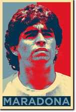 Diego Maradona art photo print (Obama Hope) Poster Cadeau
