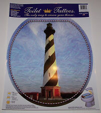 New Toilet Tattoo Bathroom Toilet Decal Cape Hatteras Lighthouse Elongated