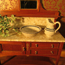 Water Jug & Basin ~ CERAMIC ~ Doll House Miniature ~ 1/12th scale