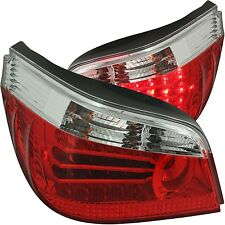 LED L.E.D. rear tail lights lamps red clear E60 saloon 2003 - 2007