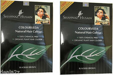 2 Colorveda Shahnaz Husain 100% Organic hair Dye Indigo Powder Color BLACK BROWN
