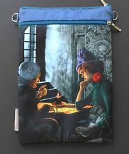 Baba Studios Tarot Reader Cards Sling Pouch Bag Silk Bohemian Gothic Blue