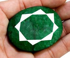 309ct Rare Natural Oval Shape Green Emerald Earthmined Loose Gemstone On Ebay