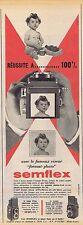 PUBLICITE ADVERTISING 015 1958 SEMFLEX le viseur format photo