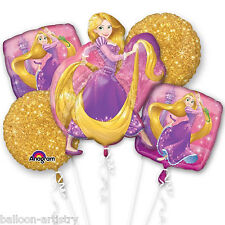 5 PEZZI DISNEY contorte RAPUNZEL Children'S PARTY FOIL BALLOON Bouquet Decorazione