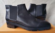 New Tod's Chelsea Ankle Boots 42 12 Booties Black Leather Shoe Lug Sole Tods