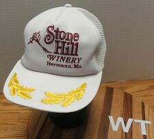 VINTAGE STONE HILL WINERY HERMANN, MISSOURI HAT TRUCKERS STYLE VGC