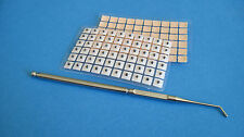 Acupuncture Ear Seeds 120 pcs & Stainless Steel Curved Probe & English Ear Chart