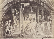 ALBUMEN PRINT, UNMOUNTED. PAINTING BY RAPHAEL AND STUDENTS IN VATICAN.