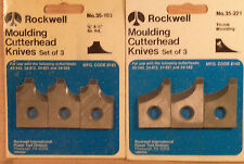 2 Delta Molding Cutter Sets - table or radial saw