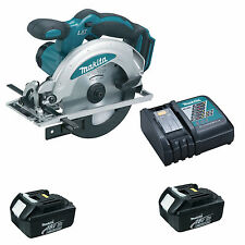 Makita 18v scie circulaire bss611z BSS611, 2 x Batteries BL1830 CHARGEUR DC18RC &