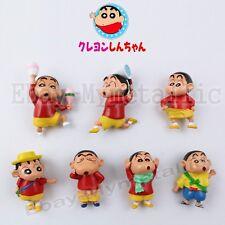 """7pcs Anime Crayon Shin-chan ShinChan Outdoor 5cm/2"""" PVC Mini Figure Loose #01"""