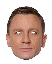 Daniel Craig Celebrity British Actor James Bond Single CARD 2D Party Face Mask