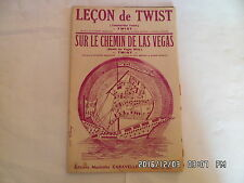 PARTITION LECON DE TWIST SUR LE CHEMIN DE LAS VEGAS MUSIQUE G.MENGOZZI   H57
