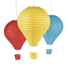 """3 HUGE colorful 22"""" Hot Air Balloon Paper LANTERNS BIRTHDAY PARTY DECOR"""
