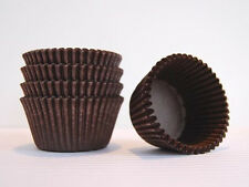 "2"" x 1 3/4"" Glassine Cupcake Liners 1000/Pack Standard & Deep BROWN"