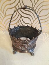 Amazing Antique Elkington Metal Basket