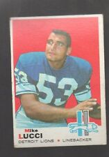 1969 TOPPS MKE LUCCI #167 DETRIOT LIONS (ONLY ONE CARD)