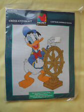 Mickey Mouse CAPTAIN Donald DUCK Cross Stitch Kit NEW by Just Cross Stitch