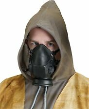 Gas Mask Black Costume Prop Zombie Reaper Latex Fake Resperator Mouth Halloween