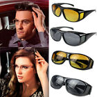 HD Night Vision Unisex Driving Sunglasses Men Women Over Wrap Around Glasses