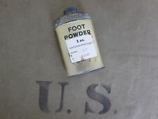 US Army Foot Powder Fuß Puder 1940 Boots Pure Drug Co. USMC Navy WK2 WWII Orig!!